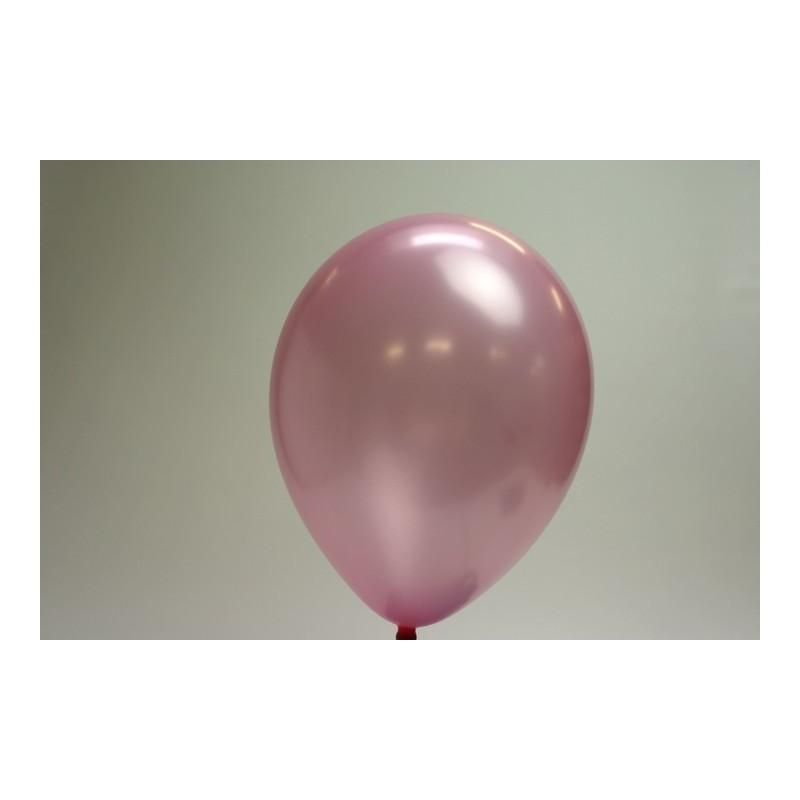 ballons vieux rose métal 30cm (les 10)