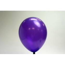 ballons violet métal 30cm (les 25)