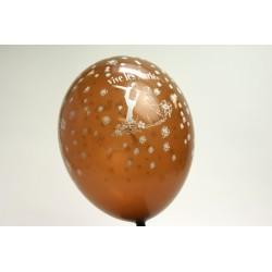ballons 30cm : imprimé « vive les mariés» chocolat (les 8)