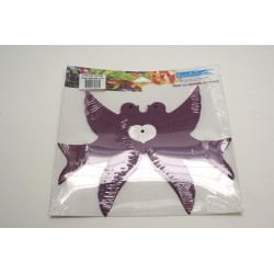 déco en papier : guirlande de colombe 4,5m violet (prune)