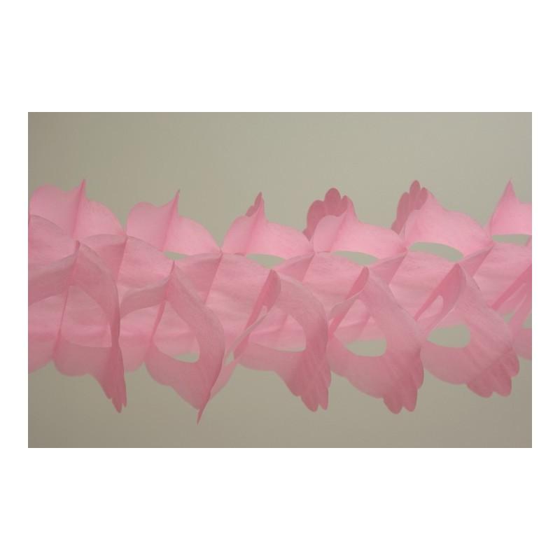 déco en papier : guirlande zinnia 6m rose