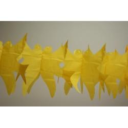 déco en papier jaune : guirlande de colombe 4,5m