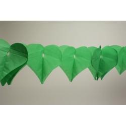 déco en papier : guirlande de cœur 4,5m vert prairie