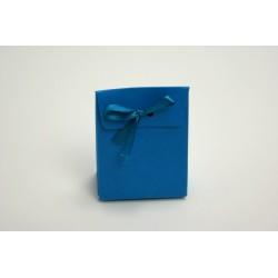 conditionnement carton : boites à dragées « vitamine -pochon» turquoise    (les 10)