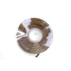 ruban : fil raphia armé torsadé 10m x 3mm chocolat