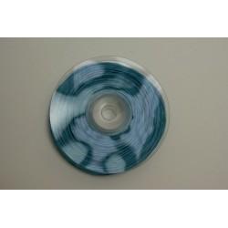ruban : fil raphia armé torsadé 10m x 3mm  turquoise