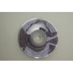ruban : fil raphia armé torsadé 10m x 3mm  lilas (parme)
