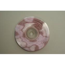 ruban : fil raphia armé torsadé 10m x 3mm  rose