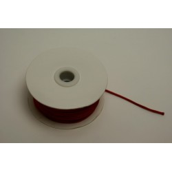 ruban : cordelette en satin 50m x 2mm rouge