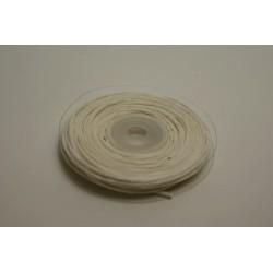 ruban : fil raphia armé torsadé 10m x 3mm ivoire