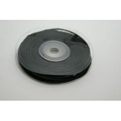 ruban : fil raphia armé torsadé 10m x 3mm NOIRE