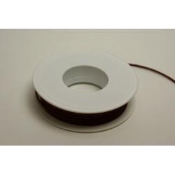 ruban : cordon cuiré 25m x 2mm bordeaux