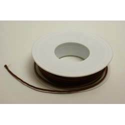 ruban : cordon cuiré 25m x 2mm naturel (marron clair)