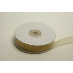 ruban : organdi 25m x 15mm ivoire
