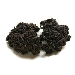 fleurs : 72 mini roses  chocolat
