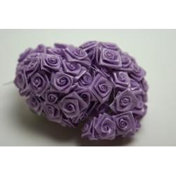 fleurs : 24 mini roses  lilas (parme)