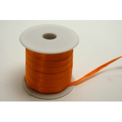 ruban : satin double face 25m x 6mm orange