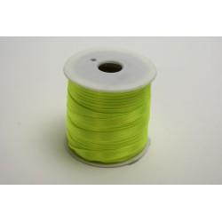 ruban : satin double face 25m x 6mm vert anis