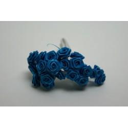 fleurs : 12 mini roses  turquoise