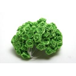 fleurs : 72 mini roses  vert anis