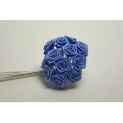 fleurs : 72 mini roses  BLEU CIEL
