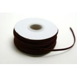 ruban : lacet velours 20m x 3mm bordeaux