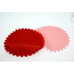 conditionnement tissu : tulles «cristal festonné 23cm» ROUGE FRANCE   (les 50)
