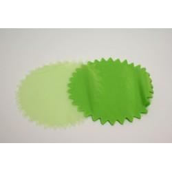 conditionnement tissu : tulles «cristal festonné 23cm» vert anis   (les 50)