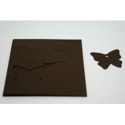 étiquettes à dragées «papillon vitamine chocolat»   (les 24)