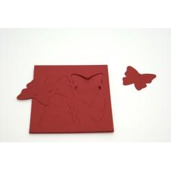 étiquettes à dragées «papillon nacré bordeaux»   (les 12)