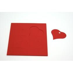 étiquettes à dragées «cœur vitamine rouge»   (les 12)
