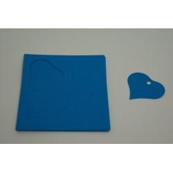 étiquettes à dragées «cœur vitamine turquoise»   (les 12)