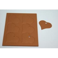 étiquettes à dragées «cœur nacré cuivre»   (les 24)