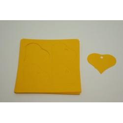 étiquettes à dragées «cœur vitamine jaune»   (les 24)