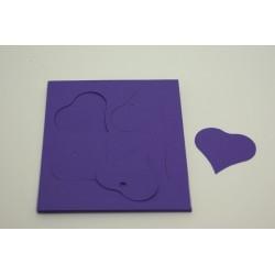 étiquettes à dragées «cœur vitamine lilas»   (les 12)