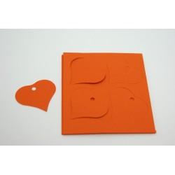 étiquettes à dragées «cœur vitamine orange»   (les 12)