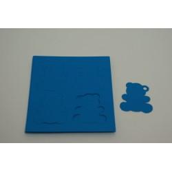 étiquettes à dragées «ourson vitamine turquoise»   (les 12)