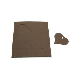 étiquettes à dragées «cœur vitamine chocolat»   (les 12)