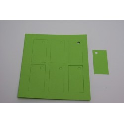 étiquettes à dragées «rectangle vitamine vert anis»   (les 12)
