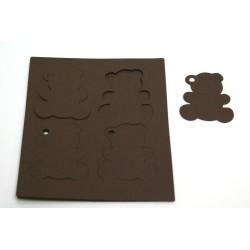 étiquettes à dragées «ourson vitamine chocolat»   (les 12)