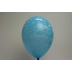 ballons 30cm imprimés baptême bleu ciel (les 8)