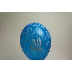 déco : ballons 30cm imprimés 30 ans (les 8) fushia
