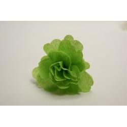déco en papier : 25 fleurs de crépon vert anis (tilleul)