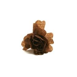 déco en papier : 25 fleurs de crépon chocolat