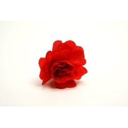 déco en papier : 25 fleurs de crépon ROUGE FRANCE