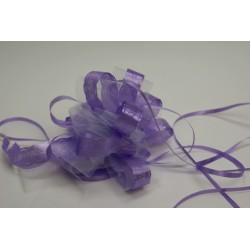 nœuds automatiques : 5 modèles géants «tulle avec liserais dentelle» lilas (parme)