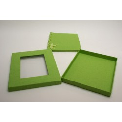 livre d'or coton gratté + coque vert anis