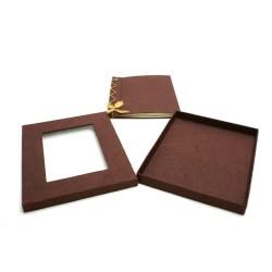 livre d'or coton gratté + coque chocolat