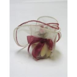 conditionnement tissu : tulles «armé d'un fil de pêche » bordeaux  (les 10)