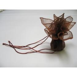 conditionnement tissu : tulles «zoé» chocolat  (les 6)